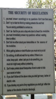 Rules at Tuol Sleng