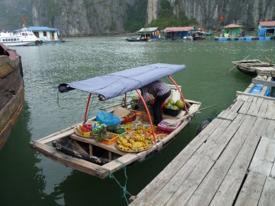 Fruit and Veg Stall on the water