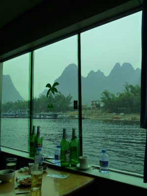 Booze cruise along the Li River