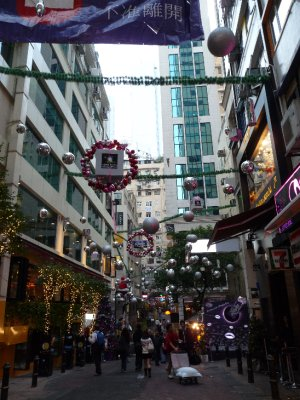 Lan Kwai Fong on Christmas Eve