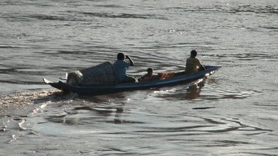 Canoe on the Mekong