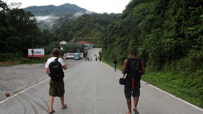 Walking to Lao Border