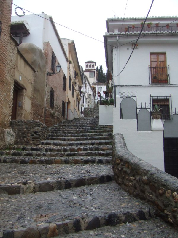 Stairs to the Albayzín