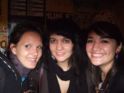 Tiina, me and Niké at that last one's birthday bash