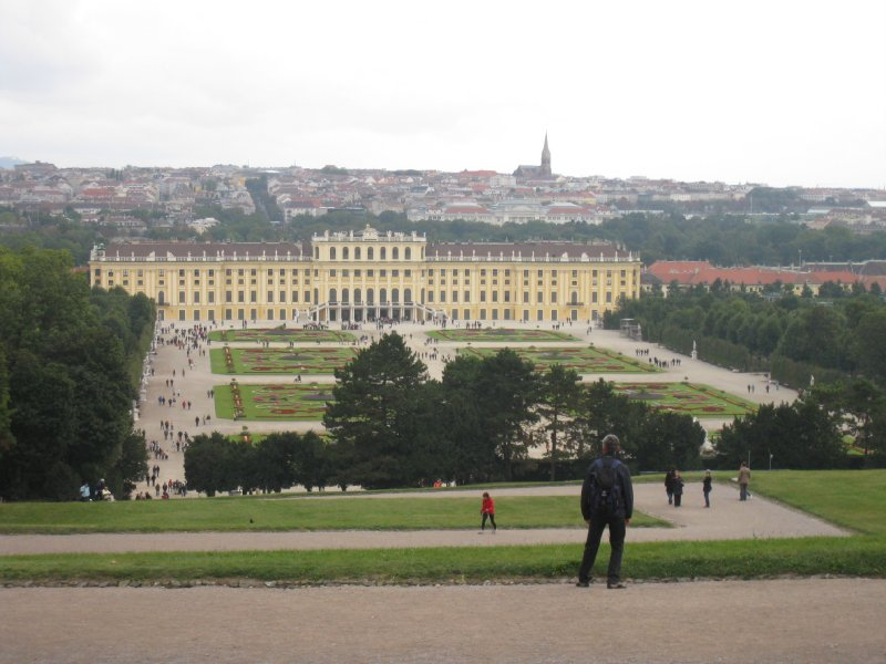 Schonbrunn Palace, overlooking the garden