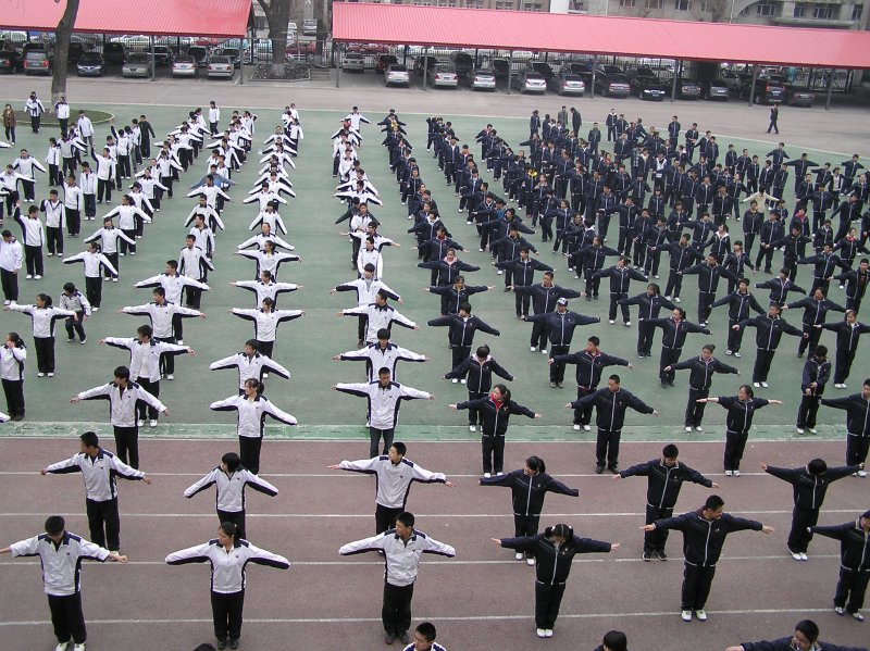 Uniformed Morning Exercises