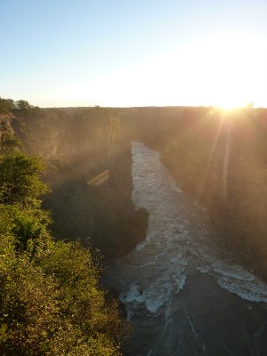 The gorge where we did our bungi jump at Vic Falls