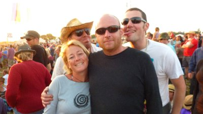 Ant and I at Glasto