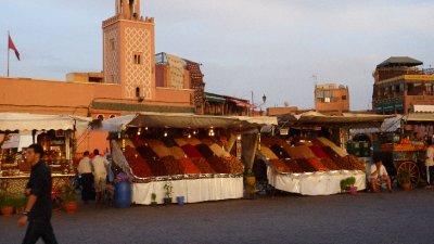 Fruit stall in the Djema el Fna in Marrakesh