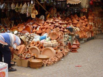 Tajine stall in Meknes