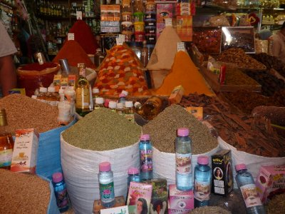 Spice stall in Meknes