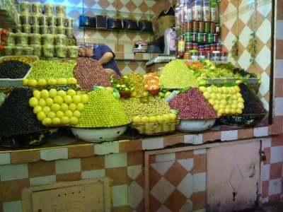 Fruit stall in the Meknes souk