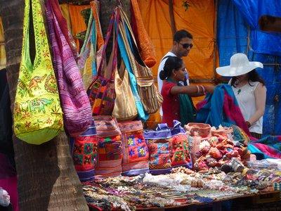 Market stalls, Anjuna, Goa