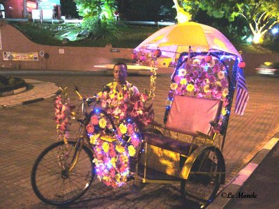 Trishaw at night