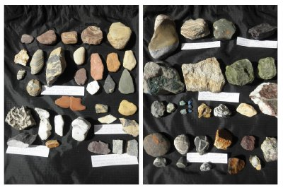 Stones from Alaska and Canadian rockies