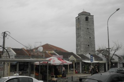 The Turkish clock tower as a remain from Ottoman times