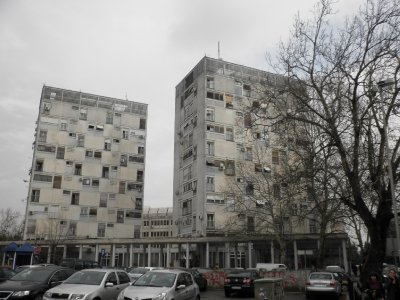 Podgorica: some of the many old style flats