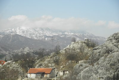 view from road of Podgorica to Budva