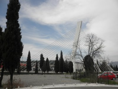 the new traffic bridge in Podgorica
