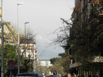Podgorica and its surrounding mountains