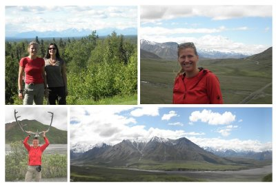 Drive to Denali Park with stop at Talkeetna where we saw the Mt Mc Kinley. Do you see it?
