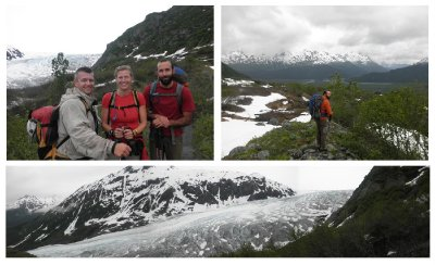 Hike towards Exit Glacier, close to Seward