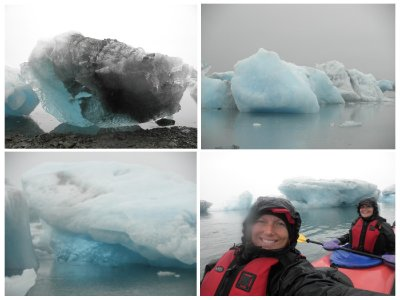 Glacier kayaking, freezing cold but amazing!