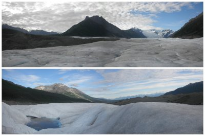 view from and at Root Glacier