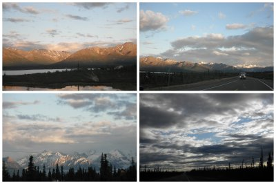 The beautiful drive from Mc Carthy to Anchorage, passing many glaciers and with a beautiful light at the glacier. Maye very friendly offered me to join her on the ride.