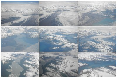 The beautiful, stunning flight from Anchorage to Juneau. How many glaciers can you count there...? I just kept taking pictures