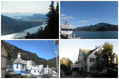 Juneau: a church with russian influences and some big houses which show the presence of the Alaskan government in this little town of 30 000 people. I spent most day finding a car though for Canada
