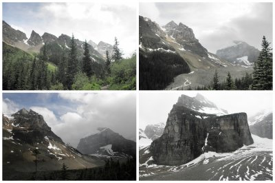 Plain six Glaciers, hike from Lake Louise