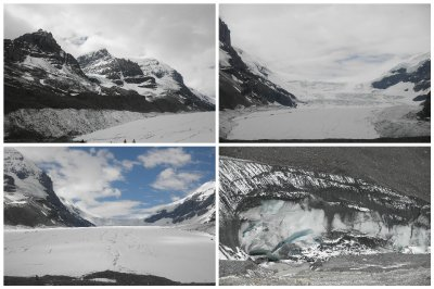 Athabasca Glacier: they even made busses to go up to the glacier. After being spoilt in Alaska I took a picture, laughed about the mass tourism and continued my road...