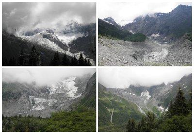 Glacier de Bionassey and Glacier de Miage