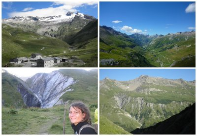 Dome de Miage, and our hike down from Col de Four (from 1150 to 2665m to 1870m)