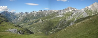 Panorama to the south. We came from the Col de Fours which is in the middle of the picture