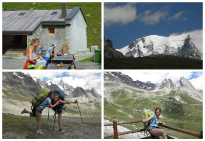 Having a relaxed start from Refuge des Mottets, going up to Col de la Seigne - view at Mont Blanc!! (going that day from 1870m to 2516m to 1900m to 2400m to 1900m)