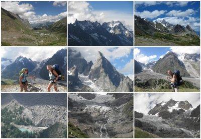 Glacier de Miage with lac de Miage