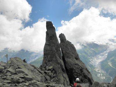 Climbers heaven: aiguileete d'argentiere Echelles