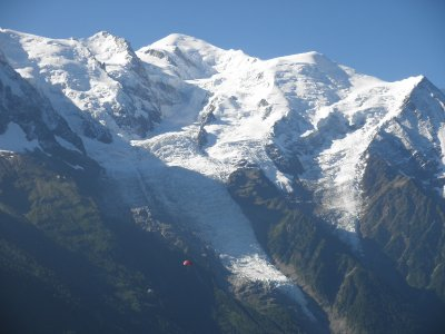 Glacier Bossons with the... Mont Blanc