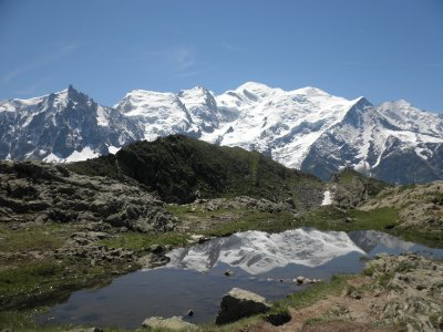Mont Blanc reflected in Lac du Brevent