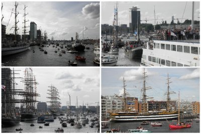 the last boats of SAIL in: about 50 tall ships are visiting Amsterdam