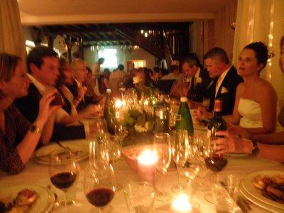 La table des mariés et temoins