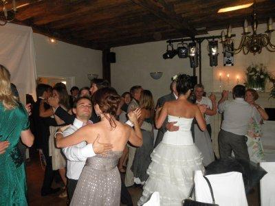 Benedicte qui danse avec son père