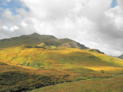 Lochaber: the road to the Isles: looking at Binnein Beag