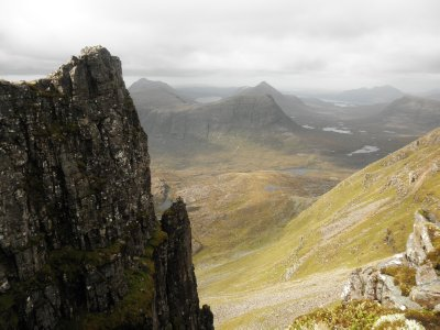 Liathach: View from the Am Fassarinen Pinnacles to the north