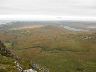 Ben Loyal: view from the top with the Atlantic Sea in the back