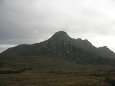 Ben Loyal: Sgor Chaonasaid (712m): I hiked to the top going up straight up at the left side
