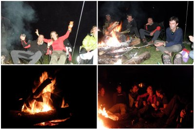 Enjoying campfire