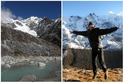 Hiking from Tagnag (4300m) to Khare (5000m): jumping at 5000m is still possible!!